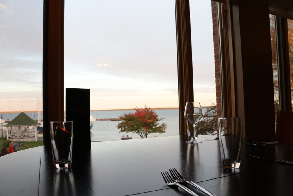 dining room looking at lake superior