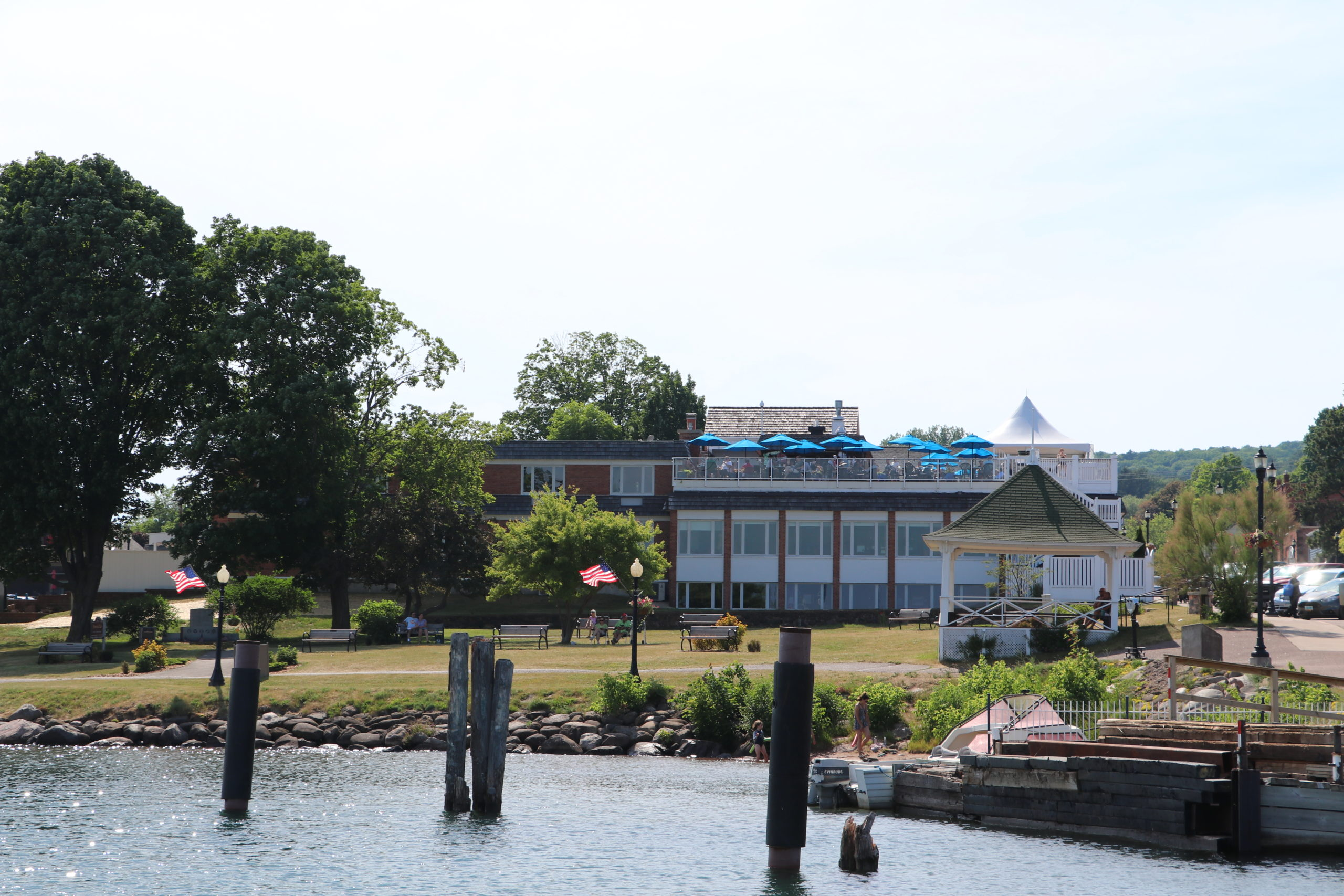 bayfield inn view from the lake